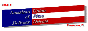 Pizza delivery drivers union logo
