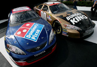 Dominos Pizza And Burger King To Co Sponsor Waltrip Nascar Racer